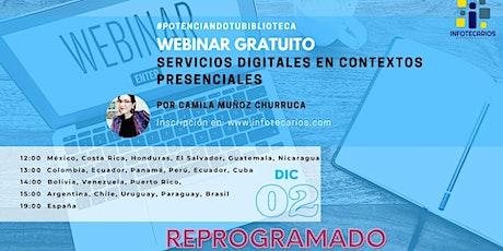 Servicios Digitales en contextos presenciales boletos