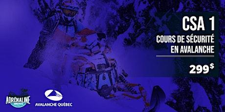 Formation Sécurité en avalanche CSA 1 - MOTONEIGE, 2-3 Janvier  2021 billets