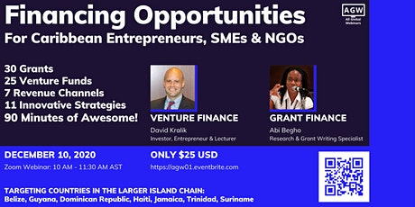 Financing Opportunities for Caribbean Entrepreneurs, SMEs & NGOs tickets