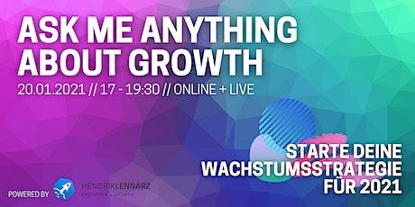 Growth Strategy 2021: Q&A mit Top-Experten Tickets