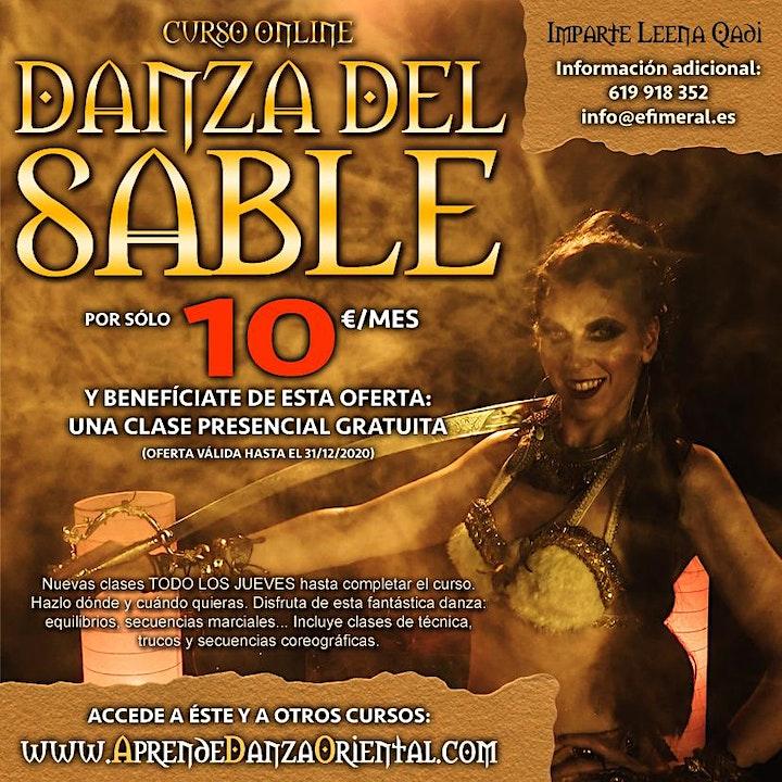 Clases de danza árabe con sable (online) image