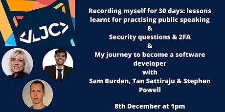 LJC: Public Speaking, Security Questions & Becoming a Software Developer tickets