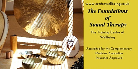 The Foundations of Sound Therapy Practitioner - £350 pp tickets