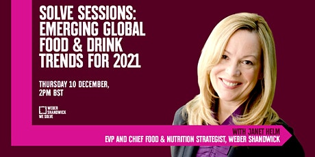 SOLVE SESSIONS:  Emerging Global Food & Drink Trends For 2021 tickets