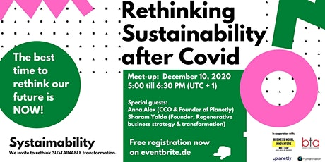 Systaimability Meetup #1 - Rethinking Sustainability after COVID-19 tickets