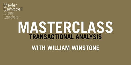 Masterclass: Transactional Analysis with William Winstone tickets