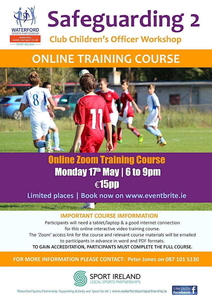 Safe Guarding 2 - Club Children's Officer Workshop 17th May 2021 - Online image