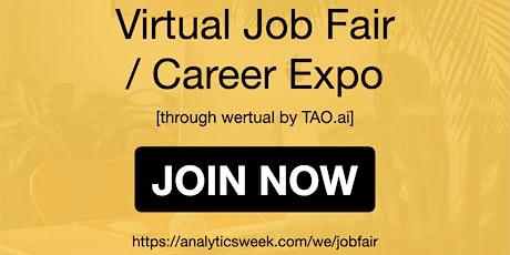 AnalyticsWeek Virtual Job Fair / Career Networking Event #Raleigh tickets
