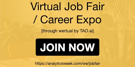 AnalyticsWeek Virtual Job Fair / Career Networking Event #Washington tickets