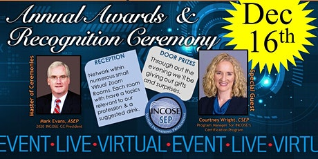 INCOSE-CC's 2020 Annual Awards & Recognition Ceremony tickets