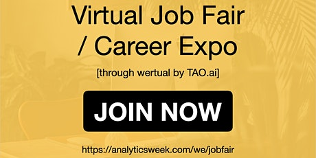 AnalyticsWeek Virtual Job Fair / Career Networking Event #Detroit tickets