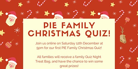 PIE Christmas Family Quiz tickets