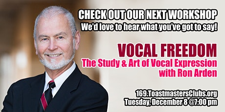 """VOCAL FREEDOM The Study and Art of Vocal Expression"" with Ron Arden tickets"