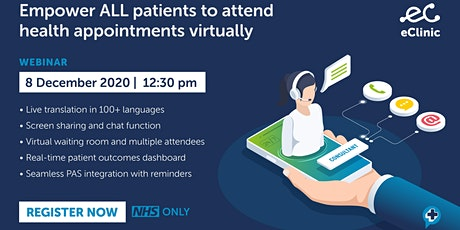 eClinic demo: virtual care designed  for healthcare professionals tickets