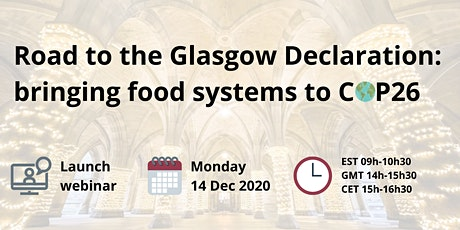 Road to the Glasgow Declaration: Bringing food systems to  COP26 tickets