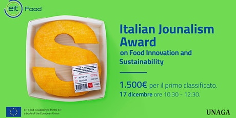 Italian Journalism Award on Food Innovation and Sustainability biglietti