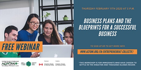 Business plan and the canvas for a successful business billets