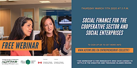 Social finance for the cooperative sector and social enterprises tickets