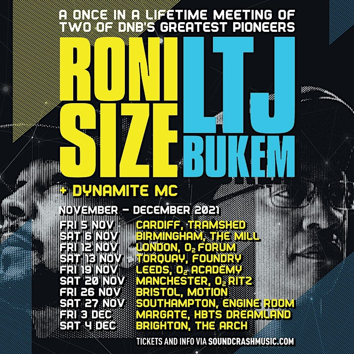 Roni Size & LTJ Bukem at The Foundry Torquay image