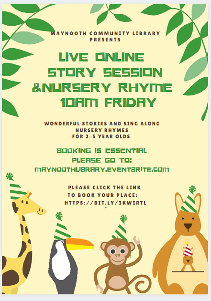 Live Story Time & Sing Along Nursery Rhymes February 26th image