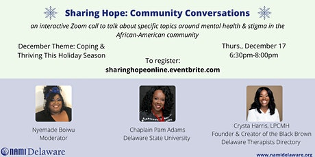 Sharing Hope: Community Conversations-Coping & Thriving This Holiday Season tickets