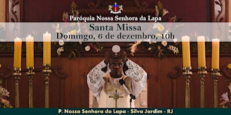 SANTA MISSA - 06/12 - Domingo - 10h ingressos