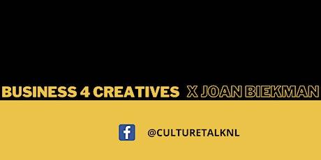 Q&A SESSIE: BUSINESS FOR CREATIVES MET JOAN BIEKMAN tickets