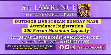 SUNDAY, December 6 @ 11:00 AM LIVE STREAM Mass Registration tickets