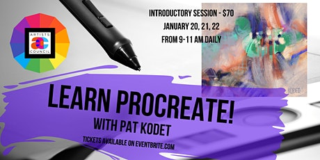 Learn Procreate! with Pat Kodet  Session I: Jan. 20, 21, 22, 2021 tickets