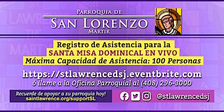 DOMINGO, 06 de Diciembre @ 12:30 PM Registración para la Misa  EN VIVO boletos
