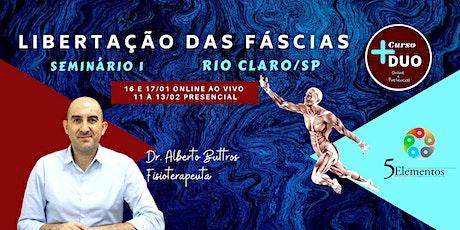 Curso DUO de Libertação das Fáscias - SEMINÁRIO 1 ingressos