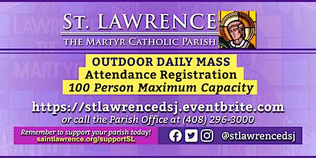 THURSDAY, December 10, 2020 @ 8:30 AM DAILY Mass Registration tickets