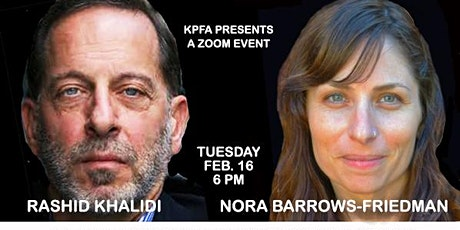 Rashid Khalidi & Nora Barrows-Friedman: The Hundred Years' War on Palestine tickets