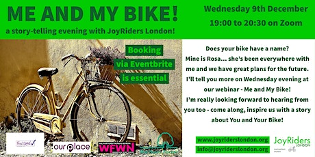 Me and my bike! - A story telling evening with JoyRiders London tickets
