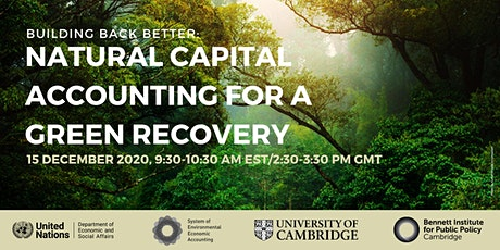 Building Back Better: Natural Capital Accounting for a Green Recovery tickets