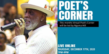 Virtual Poet's Corner: Live with Ngoma Hill tickets