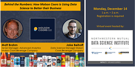 IMPACT! An NMDSI Speaker Series:  Data Science at Molson Coors tickets