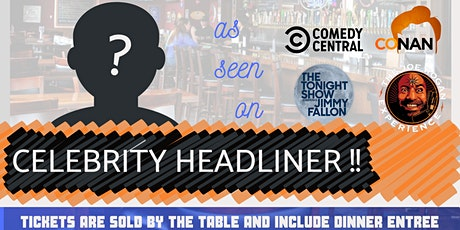 12/12 CELEBRITY HEADLINER! Dinner & Show at The Brass Tap - Domain tickets