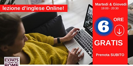 6 ore di lezione d'inglese gratis | Online tickets