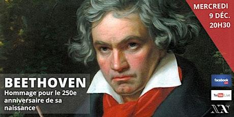 LIVE : Beethoven, un destin héroïque (hommage - 250 ans de sa naissance) billets