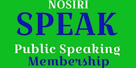 SPEAK - Public Speaking Classes tickets