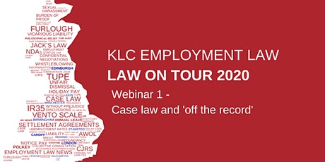 Virtual  Law on Tour - Webinar 1 tickets