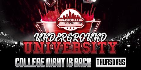College Night at Underground University tickets