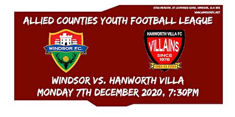 Windsor U18s Vs. Hanworth Villa U18s tickets
