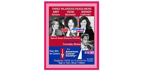 American Cancer Society Comedy w/ Vicki Barbolack  Wendy Liebman Amy Ashton Tickets