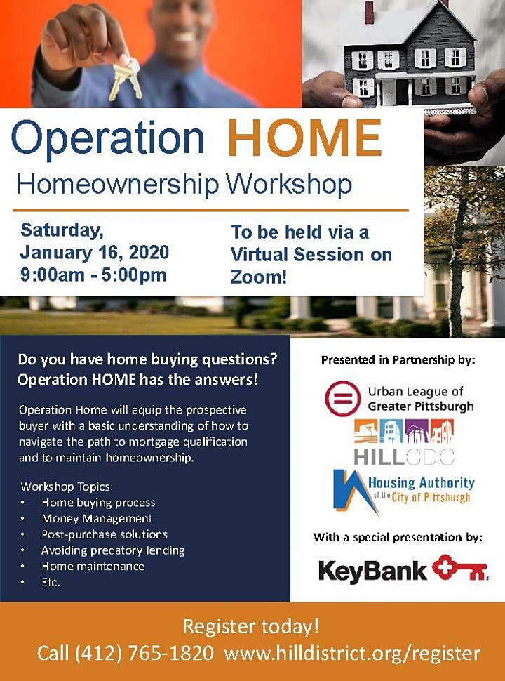 Operation Home Workshop - January 2021 with Special Guest Key Bank image