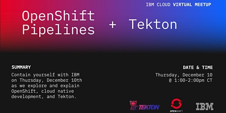 OpenShift Pipelines and Tekton Tickets