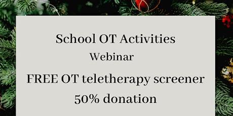 School OT Teletherapy: Fine Motor, Gross Motor, Sensory & More tickets