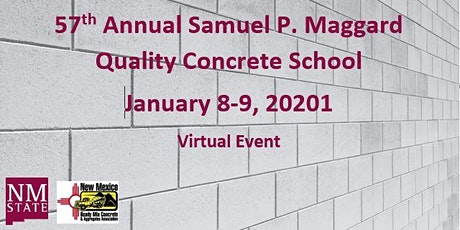 VIRTUAL 57th Annual Samuel P. Maggard Quality Concrete School tickets