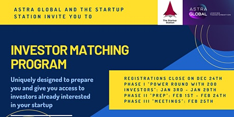 Round 2: Investor Matching Program - Meet Investors Interested in You tickets